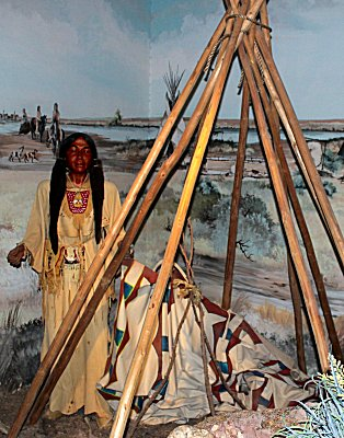 Woman at Tipi